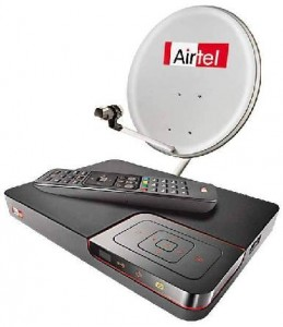 Airtel Digital TV Monthly Package in 2013