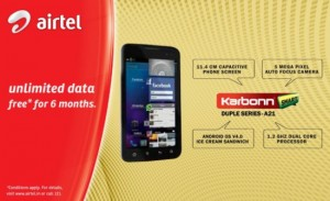 Buy Karbonn A9+, A15, A21 Or A30 Smartphone & Get 500 MB Free Airtel Data Usage