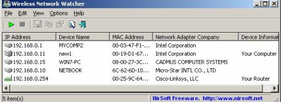 Wireless Network Watcher 1.57