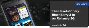 BlackBerry Z10 Voice & Data Plans has been launched by Reliance