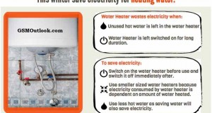 How to save electricity for heating water in winter