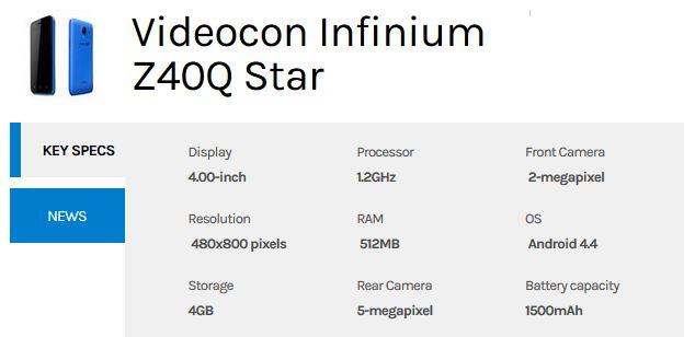 videocon-infinium-z50q-star-Specs